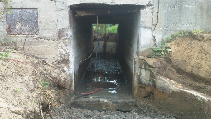 old intake tunnel