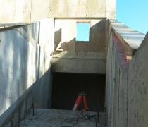 concrete work ready for archimedes screw installation