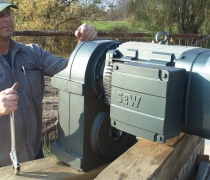 generator ready for lifting in place to mount to archimedes screw