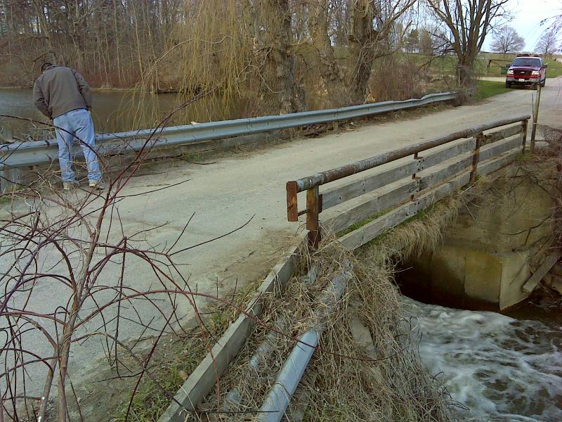 Existing driveway/bridge over dam
