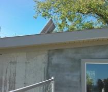 Solar panel on top of generator room