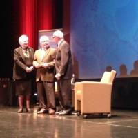 Michael Bouk accepts the 3M Environmental Innovation Award on behalf of GreenBug Energy.