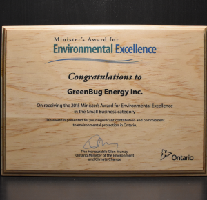 ministers award for environmental excellance